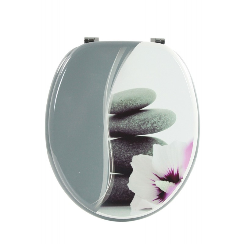 Abattant wc zen gris clair - Stickers abattant wc ...